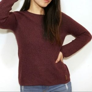 Roots Burgundy Wool Blend Sweater Size M